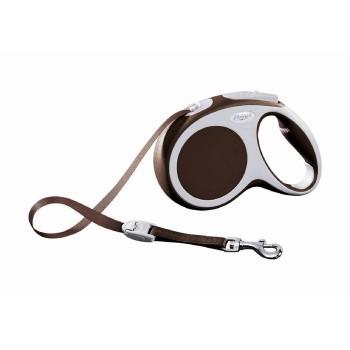 Рулетка-поводок FLEXI VARIO (до 60 кг) 5 м лента коричневый