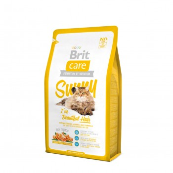 АКЦИЯ! (Скидка 10%) Brit Care Sunny, для ухода за кожей и шерстью кошек, 400 г
