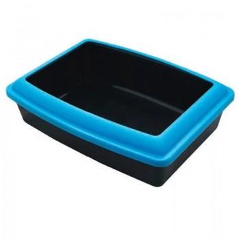Туалет д/кошек Gamma прямоугольный с бортом, 455*355*130 мм