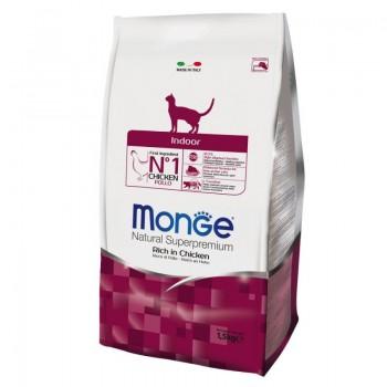 Monge Indoor, для домашних кошек, курица, 400 г