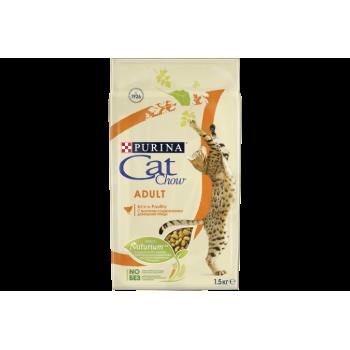 АКЦИЯ! (Скидка 10%) Cat Chow Adult, для взрослых кошек, домашняя птица, 1,5 кг