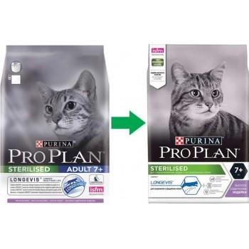 АКЦИЯ! (Скидка 0-20%) Pro Plan Sterilised 7+, для стерилизованных кошек старше 7 лет, индейка, 400 г