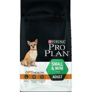 Pro Plan Small Adult, для взрослых собак мелких пород, курица, 3 кг