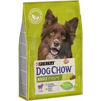 Dog Chow Adult, для взрослых собак, ягнёнок, 2,5 кг