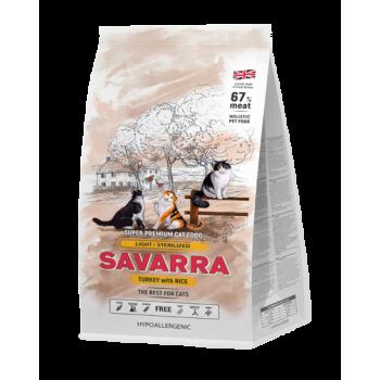 SAVARRA Sterilized, для стерилизованных кошек, индейка, 400 г ✅ - купить в Перми [дешево] с бесплатной доставкой - Интернет-магазин КормОк.Ру