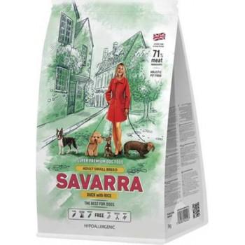 SAVARRA Adult Small Breed, для взрослых собак мелких пород, утка, 3 кг